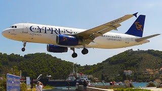 Cyprus Airways at Skiathos - Landings, Takeoffs, Cockpit Views, Onboard Action, Plane Spotting-A320