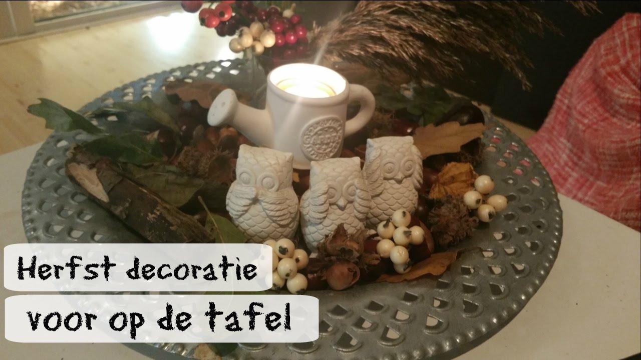 Diy herfst decoratie voor op tafel maken youtube for Decoratie herfst