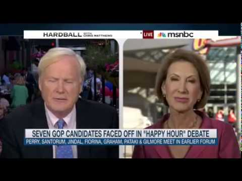 Carly and Chris Matthews discuss Hillary's trustworthiness