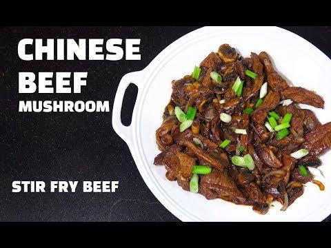 Stir Fry Beef & Mushroom - Chinese Beef