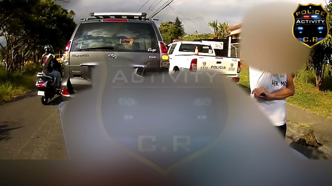 Con la abogada altanera le tocó lidiar la Policía Municipal de San Isidro de Heredia!!!