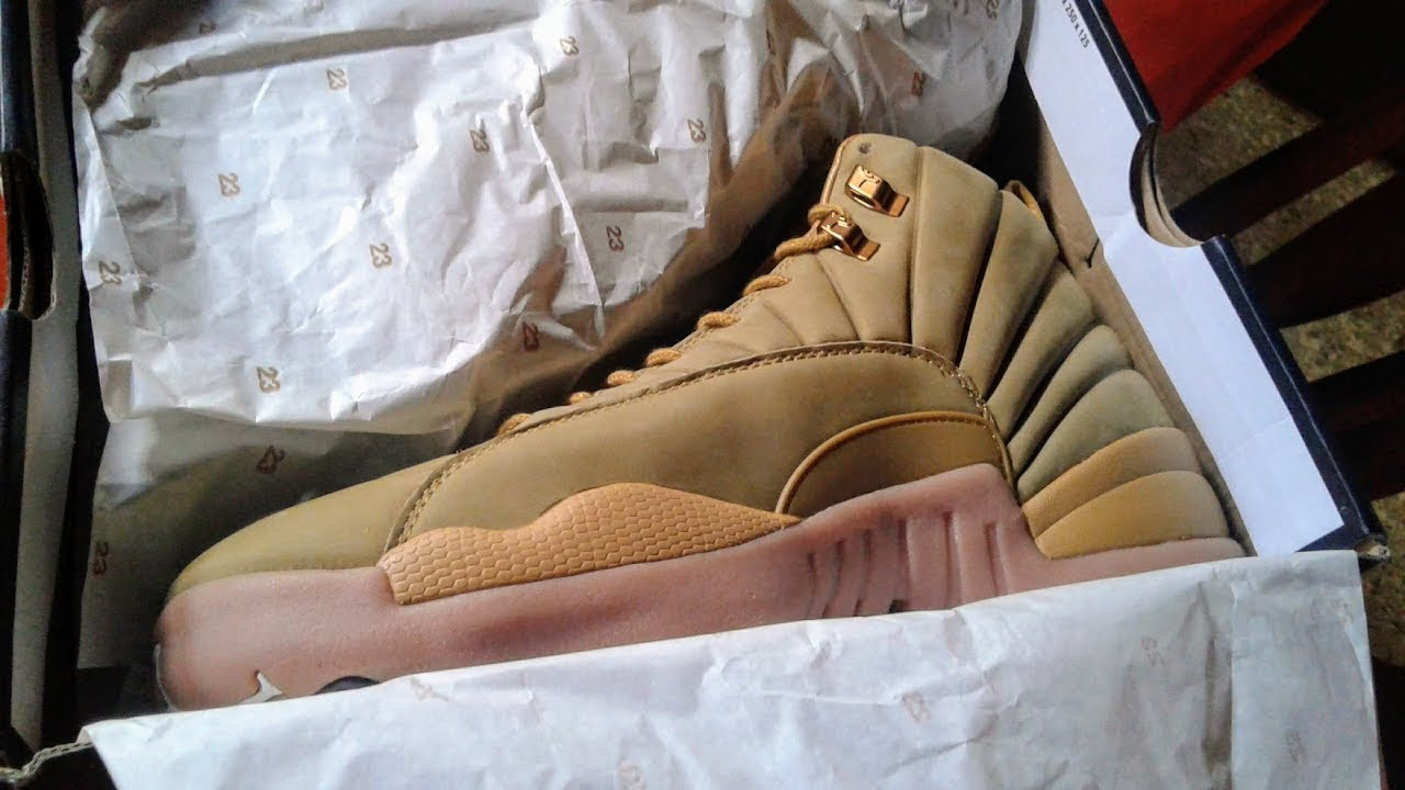 d10c1d3c5d2 Jordan 12 PSNY Wheat Samples UA - YouTube