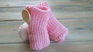 (crochet) How To - Tunisian Crochet Baby Booties - Yarn Scrap Friday