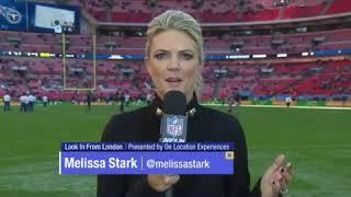 Melissa Stark Hit With Football