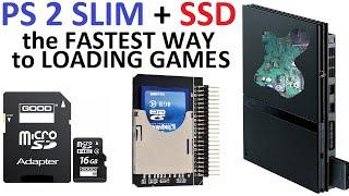 Playstation 2 Slim + SSD Твердотельный накопитель вместо привода DVD scph 7000x