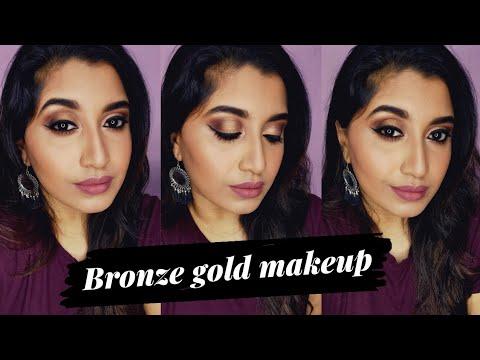 bronze-gold-makeup-tutorial-|-devi-nair