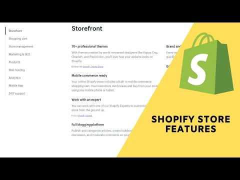 Shopify Overview:  All the Shopify store features you need to build a successful eCommerce Business