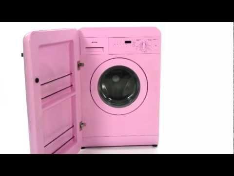 Smeg wmfab16 washing machine 1600 spin mychoice youtube - Pink smeg washing machine ...