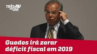 Em Davos, Paulo Guedes diz que irá zerar déficit fiscal de 2019