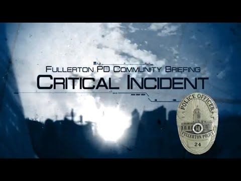 Critical Incident Community Briefing - In Custody Death 19-8589