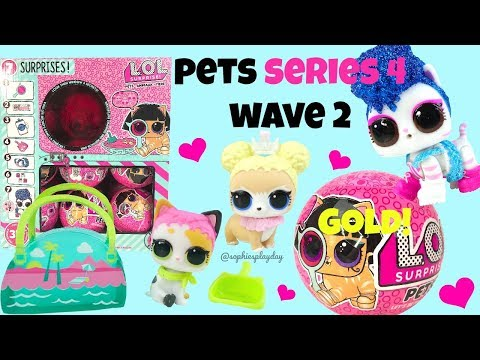 LOL Surprise Pets Series 4 Wave 2 Rare And Ultra Rare Unboxing Gold Found Ball Placement And Weights