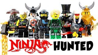 Ninjago Hunted Season 9 w/ Teen Wu Lloyd Iron Baron Golden Dragon Harumi Unofficial LEGO Minifigures