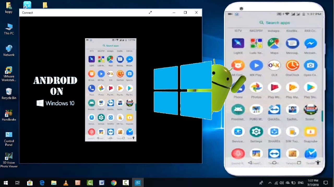 How to Connect Android Device with Windows 10 PC or Laptop without Software  2018