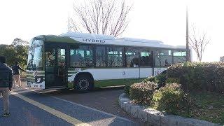 広電バス 日野ブルーハイブリッド64947号 広島みなと公園発車