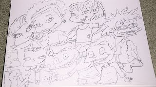 Drawing Rugrats All Grown Up (SPEED DRAWING)