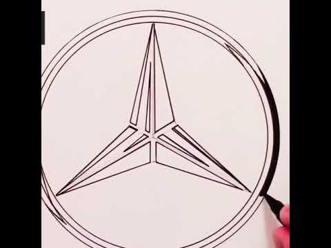 Man with incredible ability to draw logos of famous brands!!