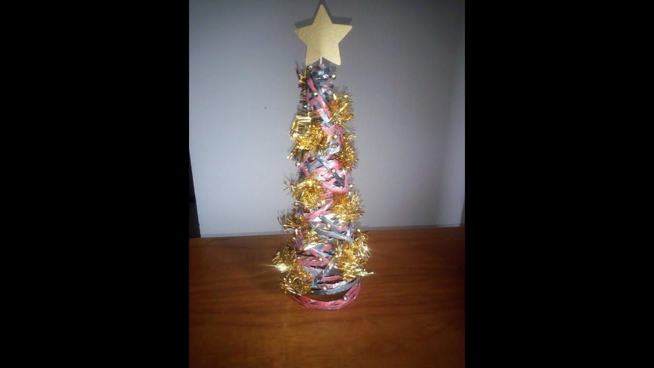 Albero Di Natale Con Cannucce Di Carta.Albero Di Natale Con Cannucce Di Carta Stefi64