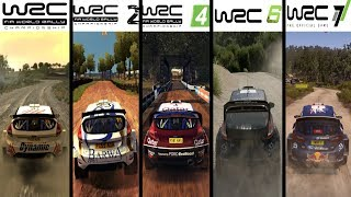 WRC vs WRC 2 vs WRC 3 vs WRC 4 vs WRC 5 vs WRC 6 vs WRC 7 - Gameplay Comparison HD