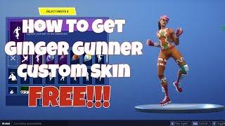 HOW TO GET GINGER GUNNER CUSTOM SKIN IN FORTNITE