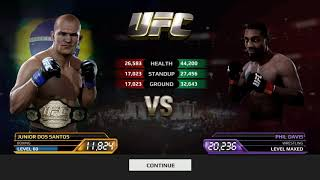 EA Sports UFC | Junior Dos Santos Vs Phil Davis | Android Gameplay