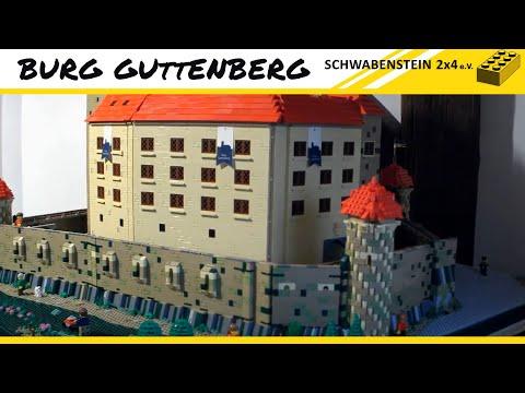 Einzug der Lego Burg Guttenberg  auf der Burg Guttenberg