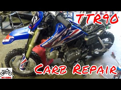 Yamaha TTR50 Carburetor Clean ~ Pilot Jet Tutorial ~