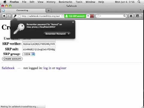 PAKEProxy TLS-SRP HTTPS proxy on Mac OS X Firefox 4