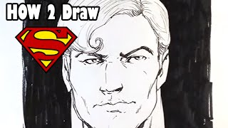 How to Draw Superman - Easy Drawings