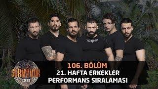21. Hafta Erkekler Performans Sıralaması | 106. Bölüm | Survivor 2018