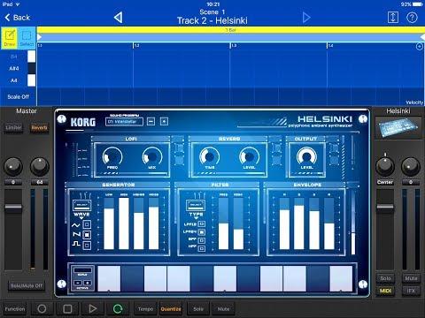 KORG Gadget -  HELSINKI New Preset Demo & Compose for the iPad