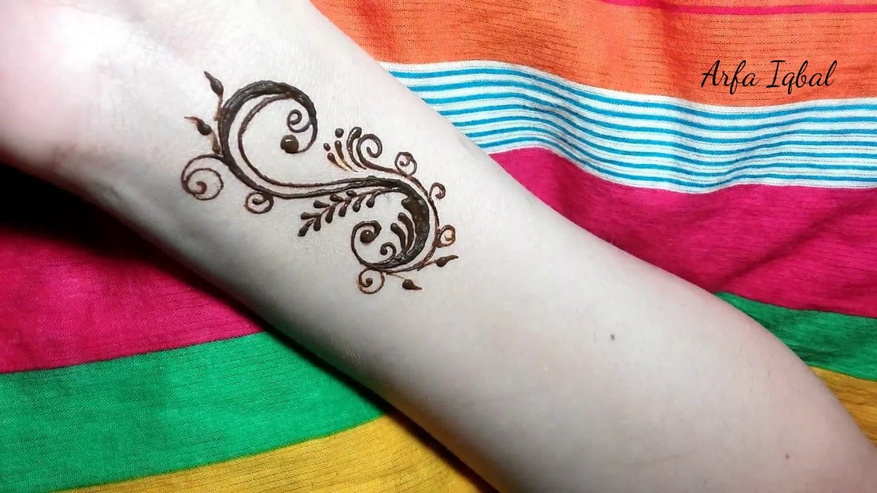 "Henna Tattoo Alphabet: LETTER ""S"" Henna Tattoo Tutorial"