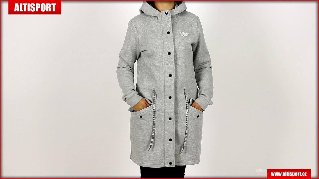 dámský kabát alpine pro morgana lctk045 tmavě šedá - YouTube 93a1e11c282