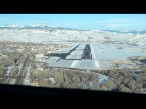 Landing in Gunnison, Colorado