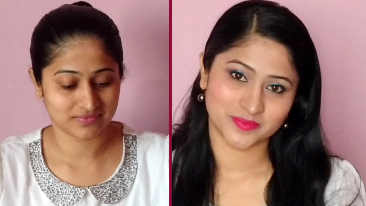 Party Makeup Tutorial For Indian Skin In Hindi | Valentineu0026#39;s Day Makeup Tutorial For Indian Skin ...