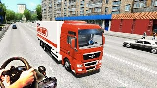 MAN TGX Truck Simulator Russia - City Car Driving v1.4, (Full HD 2015) t500 th8 trackir pro v5