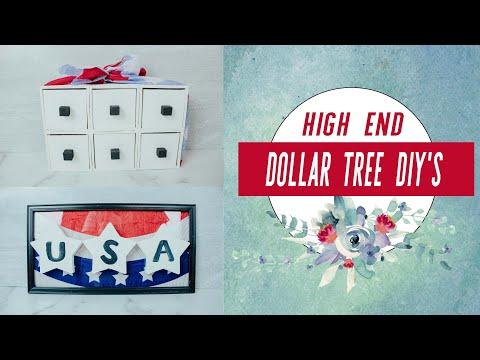 HIGH END MODERN FARMHOUSE DIY'S | 4th Of July Dollar Tree DIY's | Summer Dollar Tree DIY