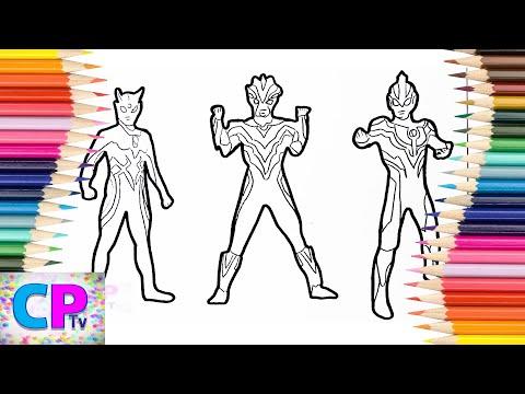 Ultraman Zero, Ultraman Victory, Ultraman Ginga Coloring Pages, How to Color Ultraman Coloring Fun