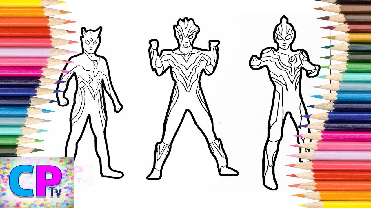 Ultraman Zero Ultraman Victory Ultraman Ginga Coloring Pages How To Color Ultraman Coloring Fun