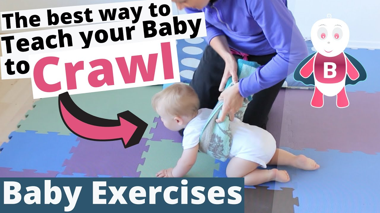 how to teach baby to crawl vol. 3 - baby exercises #6-9 months