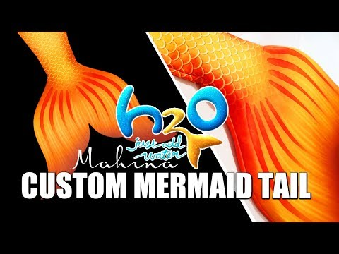 Nerdmaid Faith's New H2O Inspired Fabric Mermaid Tail Skin for the Mahina Merfin