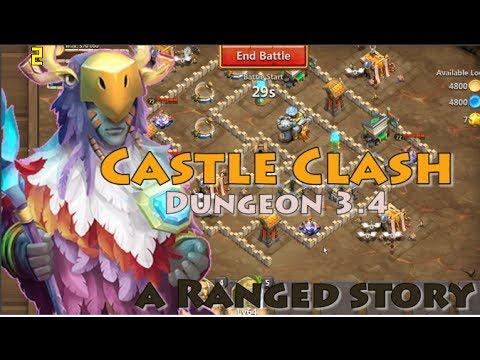 CASTLE CLASH DUNGEON 3.4 [5 RANGE HEROES]