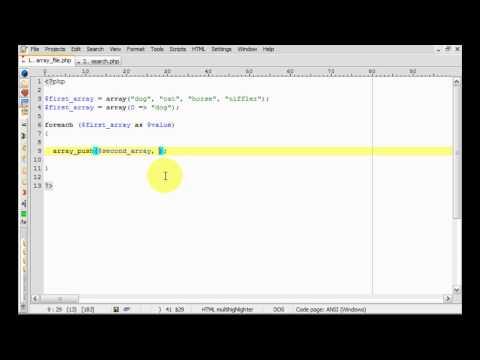 PHP: array_push tutorial
