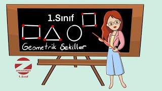 1.Sınıf Matematik Geometrik Şekillerin Kenar Ve Köşe Sayıları Konu Anlatımı