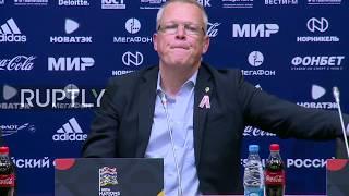Live: Press conference follows Russia vs. Sweden match