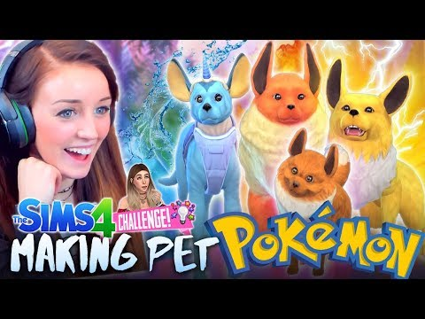 😅(TRYING!) TO MAKE POKEMON IN CATS & DOGS! 😂 (Sims 4 CAS)