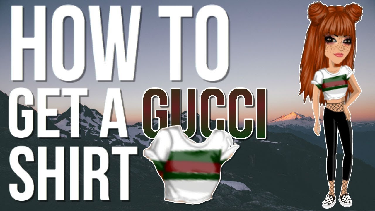 How to make a gucci shirt in msp youtube for How to print shirt