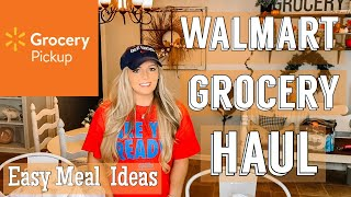 WALMART GROCERY HAUL | FALL MEAL IDEAS | OCTOBER 2019