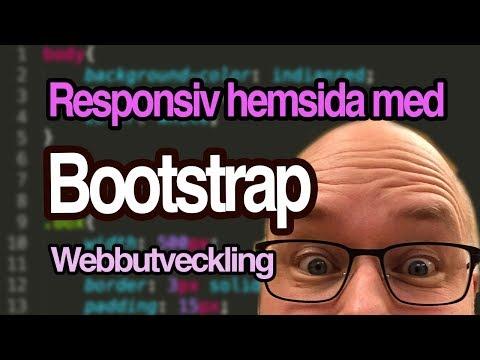 Skapa Responsiv Hemsida Med Bootstrap - Webbutveckling