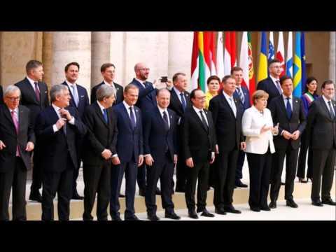 E U  Leaders Sign Rome Declaration and Proclaim a 'Common Future' Minus Britain