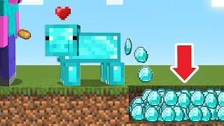 [마인크래프트] 돼지 진화!!! 다이아몬드 돼지로 만들었어요!!!! 다이아몬드 똥을싼다!!